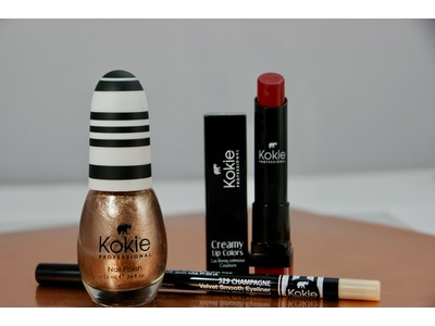 Pop the Champagne- Nail Polish, Waterproof Eyeliner Pencil- Champagne, Cream Lipstick- Starring Role
