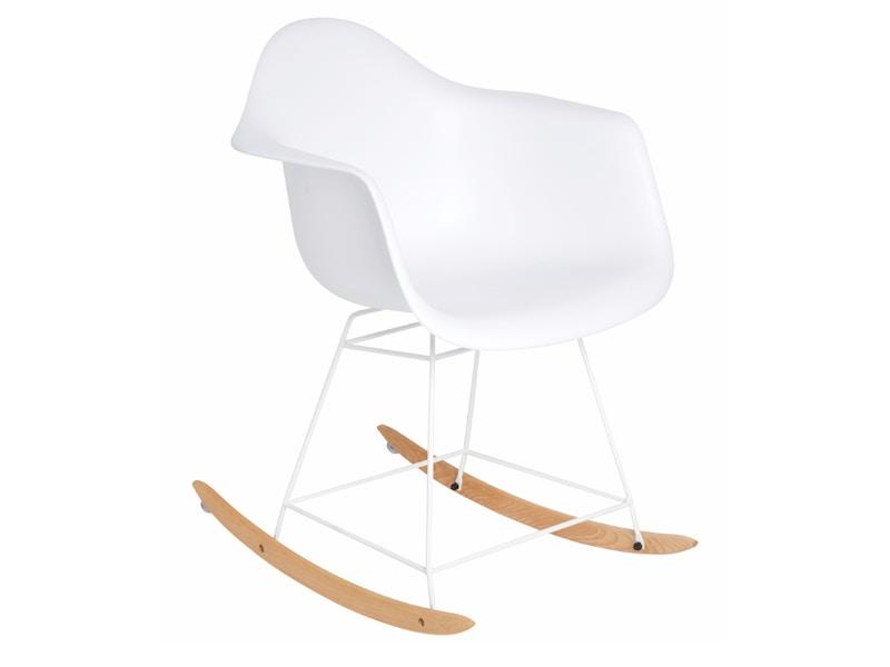 fauteuil bascule blanc - Chaise A Bascule Blanche