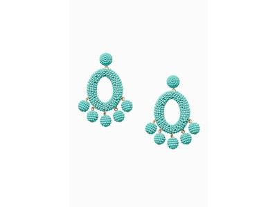 Teal Statement Earrings