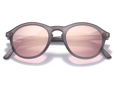Singlefin Sunglasses in Grey Rose