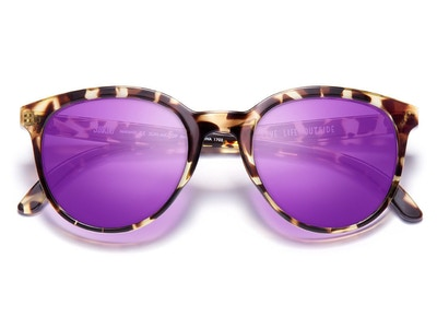 Makani Sunglasses in Tortoise Purple