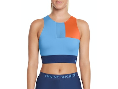 BLOCKED OUT SPORTS BRA