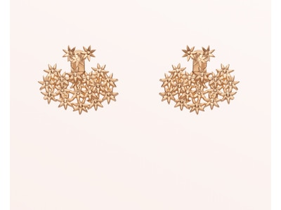 Flower Earring Back Small, Vermeil: Rose