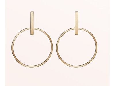 Circle Earrings, Vermeil: Yellow