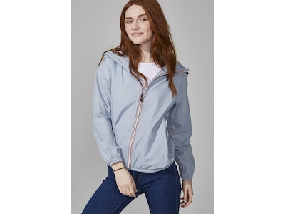 Celestial Blue Full Zip Packable Jacket