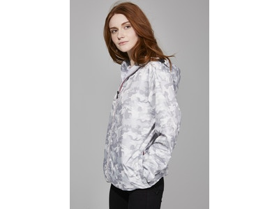 White Camo Full Zip Packable Jacket