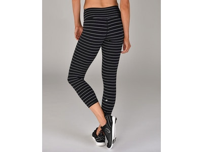 Pinstripe Leggings: Black/White