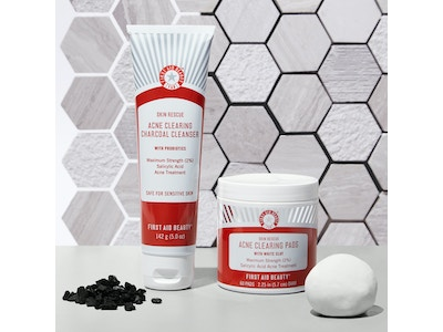 Skin Rescue Bundle: Acne Clearing Charcoal Cleanser + Acne Clearing Pads with White Clay
