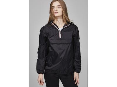 Black quarter zip packable jacket