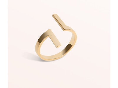 Inverse Ring, Vermeil: Yellow Gold