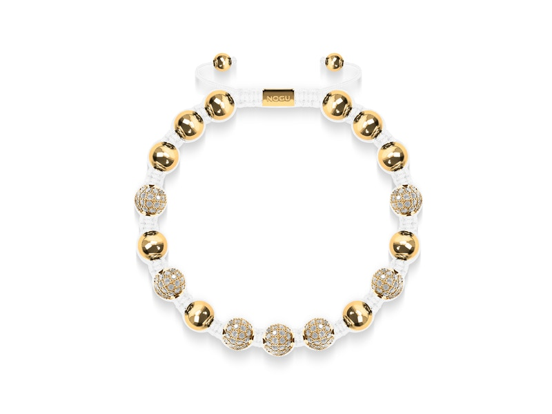 18k Gold | Crystal Pavé Kikiballa Bracelet | White