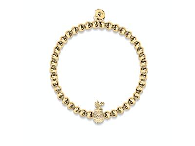 Piña Colada | 18k Gold | Crystal Pineapple Bracelet