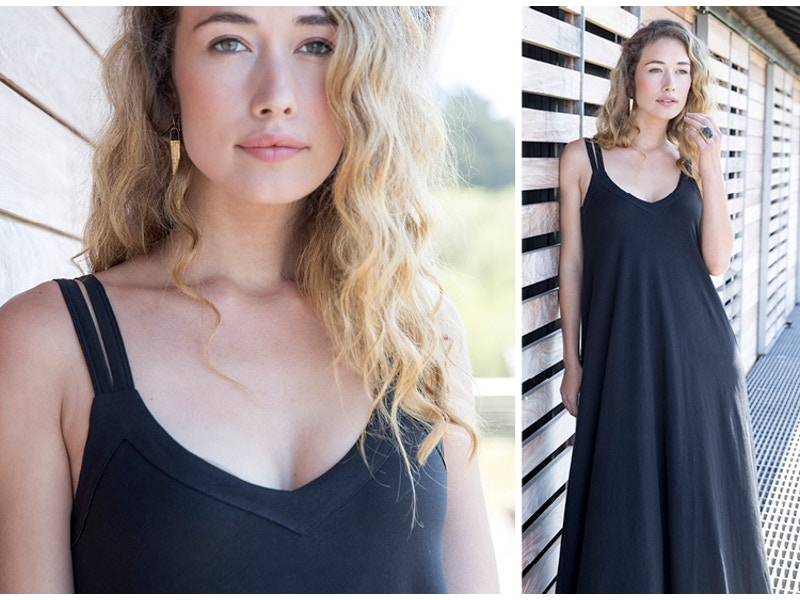 Double Strap Maxi Dress | Soft Organic Pima Cotton
