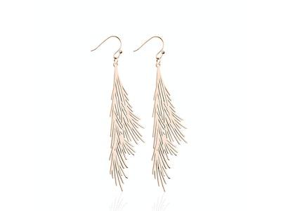 Palm Leaf | 18k Rose Gold | Gilded Earrings