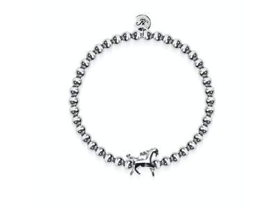 Equestrian | Silver | Horse Charm Bracelet