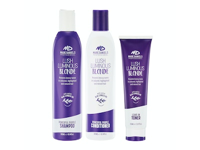 POWERFUL PURPLE SHAMPOO, CONDITIONER AND LEAVE IN TONER