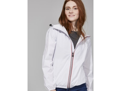 White Full Zip Packable Jacket