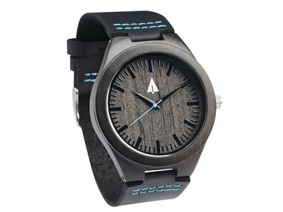 WOODEN WATCH THEO BLUE