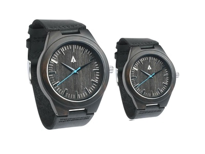 COUPLES WOODEN WATCHES  THEO BLUE