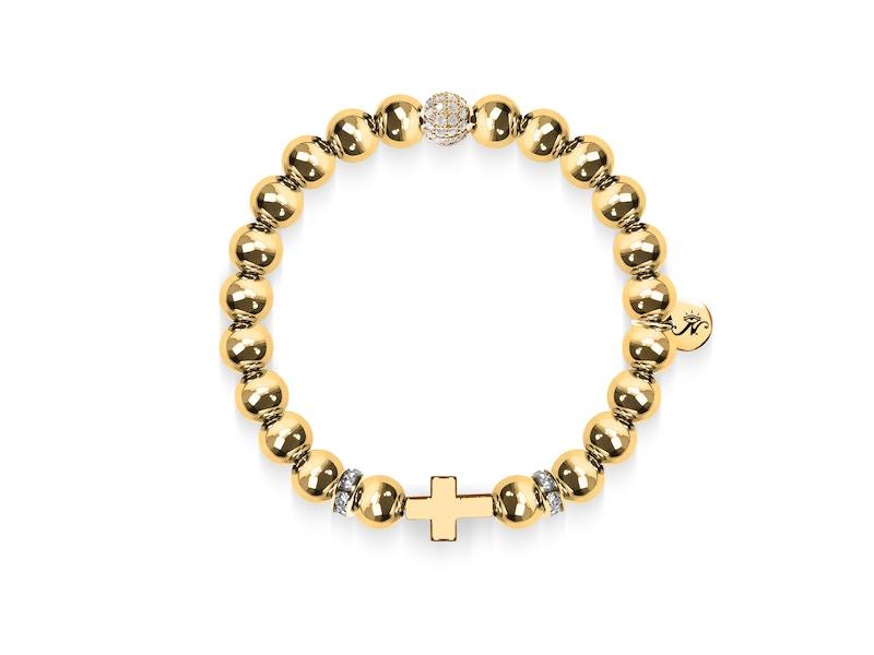 18k Gold | Gilded Cross Bracelet