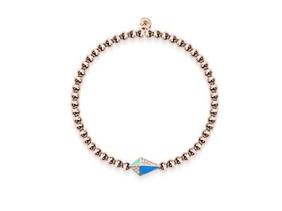 Kite | 18k Rose Gold | Enamel | Crystal Charm Bracelet