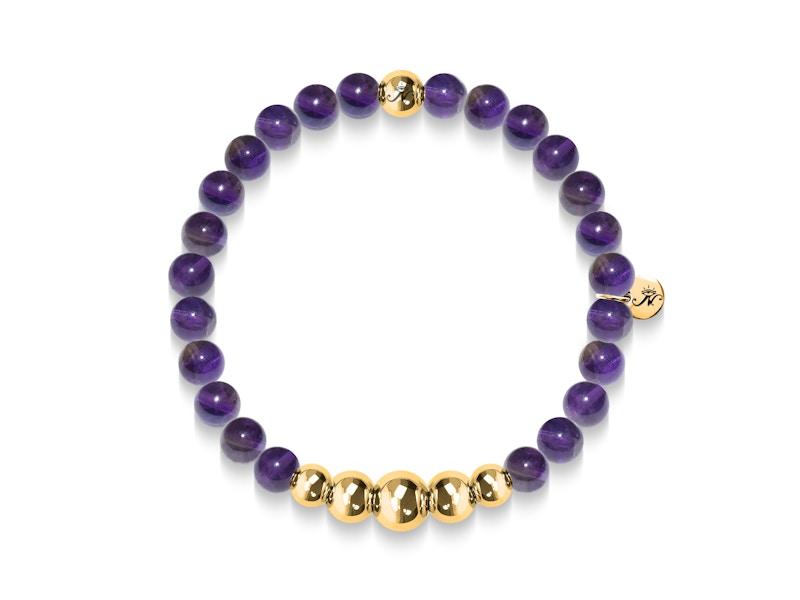 Intuitive | Gold Aura Amethyst Bracelet