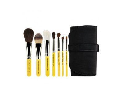 Bdellium Tools-Travel Basic 7pc. Brush Set with Roll-up Pouch