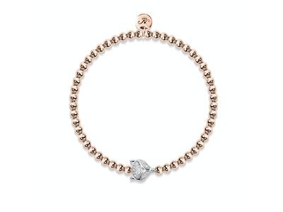 Vixen | 18k Rose Gold & Silver | Crystal Fox Bracelet