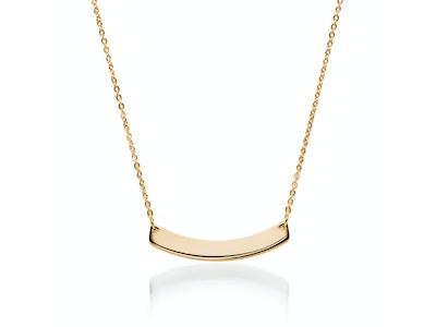 Curved Minimalist Bar | 18k Gold | Necklace