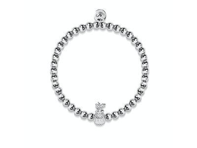 Piña Colada | Silver | Crystal Pineapple Bracelet