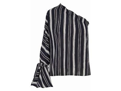 Stripe One Shoulder