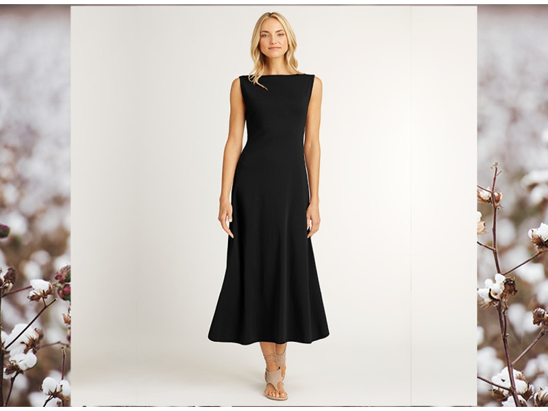 Best-Selling Boatneck Dress in Organic Cotton