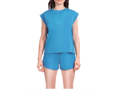 Linked Muscle Tee - Color Azure - Size Small