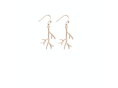 Coral | 18k Rose Gold | Gilded Earrings
