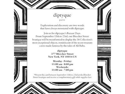 [EVENT] diptyque's Bazaar Days