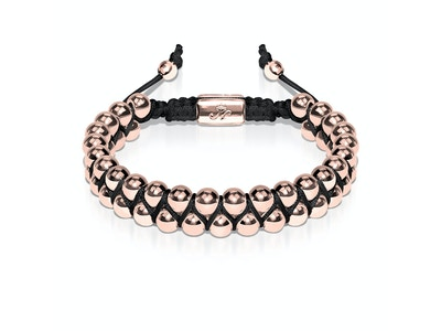 18k Rose Gold   Black   Vitality Bracelet