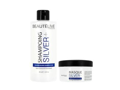 Shampoing et masque Silver + BEAUTÉLIVE