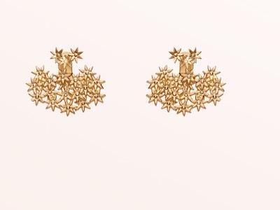Flower Earring Back Small, Vermeil: Yellow Gold