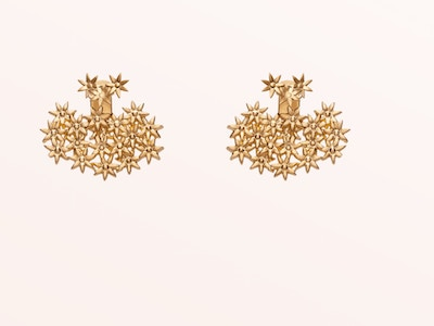 Flower Earring Back Small, Vermeil: Yellow Gold