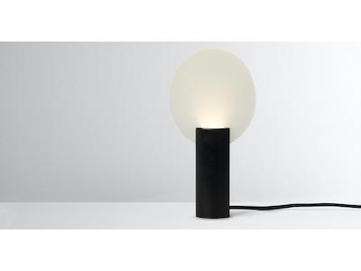 Lune Lune LED-Tischlampe, Schwarz