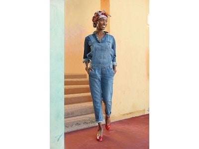 Salopette femme en jean