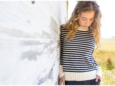 Striped Bouclé Sweater