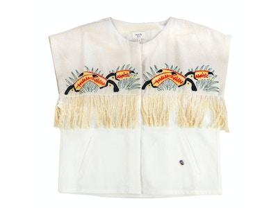 Veste à franges toucan