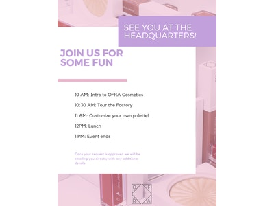 OFRA Cosmetics Event