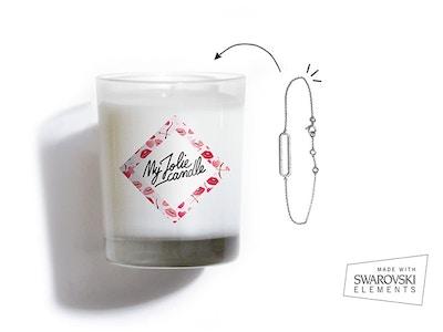 Bougie Bracelet - Fleur de Cerisier