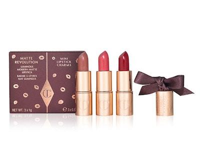 CHARLOTTE TILBURY Matte Revolution Mini Lipstick Charms Very Victoria ~ Amazing Grace ~ Red Carpet Red