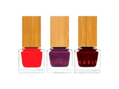 Habit Cosmetics Nail Polish Bold Bestsellers: 04 Tabou, 15 Santa Sangre and 16 Lush