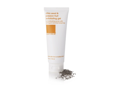 NEW***chia seed & passion fruit exfoliating gel