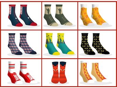 Dollar Socks Box - 9 Pairs of Socks For Women - YT