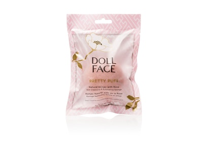 PRETTY PUFF - ROSE Natural Konjac With Rose Skin Cleansing & Exfoliating Sponge